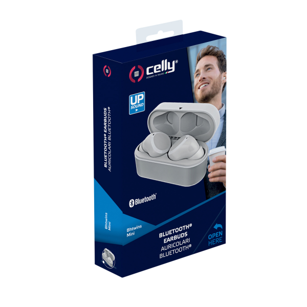 Celly Wireless Bluetooth Earbuds - Weiß