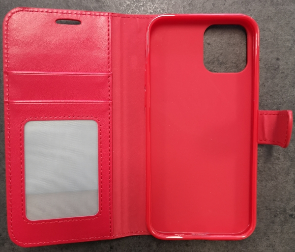 iPhone 12/12 Pro - Book Case - Rot