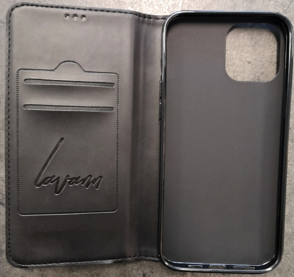 "iPhone 12 Pro Max - Book Case - Schwarz ""Lavann"""
